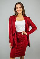 Жіноча cпідниця -олівець полоска VCS 1851/204 Чорно-червоний (XS-XL)