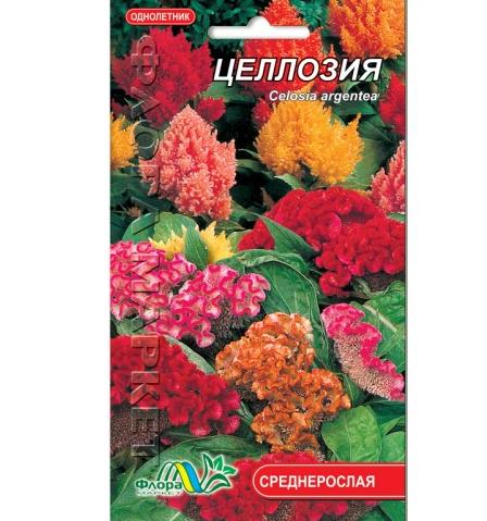 Целозия смесь цветы однолетние, семена 0.15 г