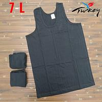 Майки мужские 100% хлопок черные Baytas Yildiz Турция размер 7-L ММ-2538