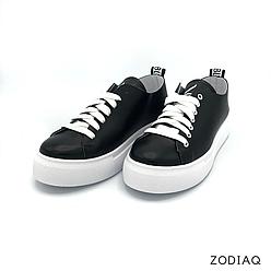 Кеды женские кожаные черные весна - t2164-2 ZodiaQ