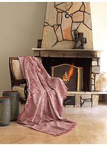 Плед-накидка Eponj Home Buldan Keten - Linen 170*220 kiremit красный