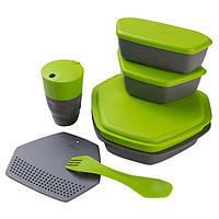 Набор посуды Ланч Crivit, силикон, пластик, зеленый (4032-(grn))