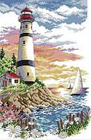 Набор для вышивки счетным крестом Маяк на берегу моря 30х40 см (арт. MK109), фото 1