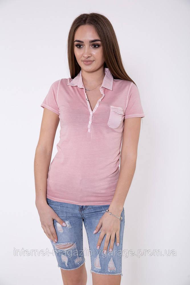 Поло женское 516F439-1 цвет Пастельно-розовый