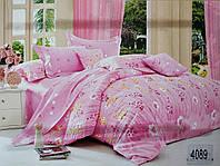 Сатиновое постельное белье евро ELWAY 4089 «Полевые цветы»