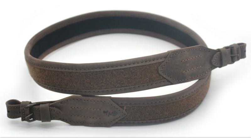 Ремень для ружья прямой кожа Крейзи + лоден 4403/2