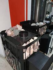 Печка для бани «Пруток-Панорама» с выносной топкой, фото 3