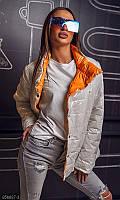 Демисезонная двухсторонняя куртка,до 60 размера