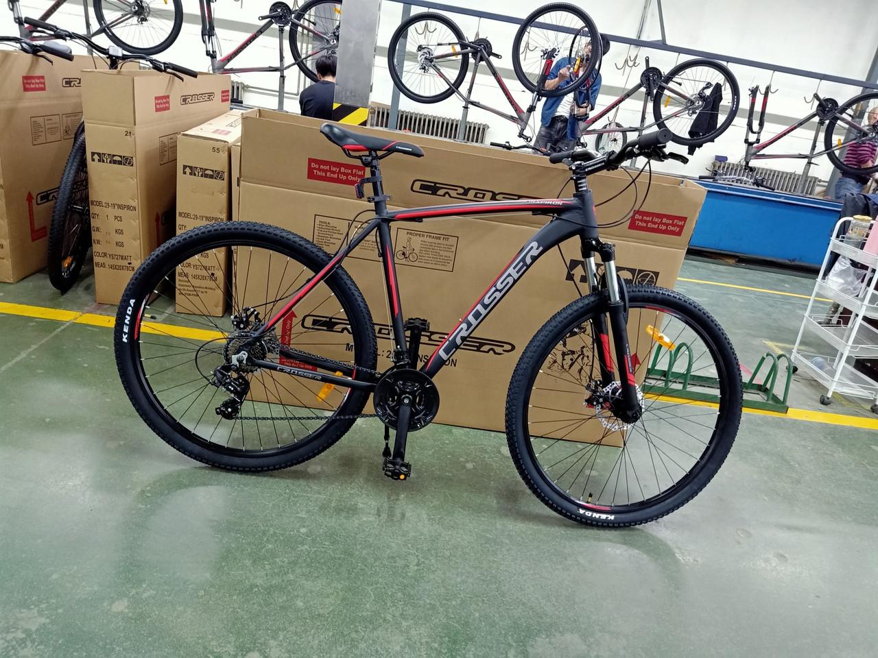 Велосипед CROSSER 29  Inspirion 22 2020 года Черный\Красный цвет