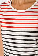 Туника женская 430V001 цвет Красно-серый, фото 3