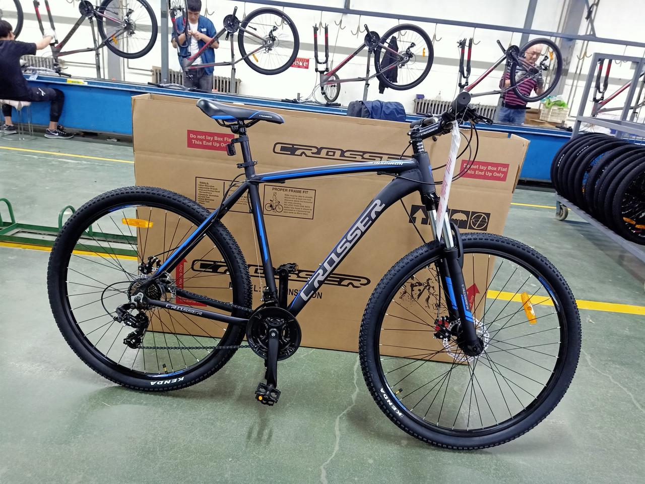 Велосипед CROSSER 29  Inspirion 22 2020 года Черный\Синий цвет