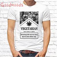 """Футболка мужская Push IT с принтом, Swag """"Vegetarian"""""""