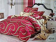 Сатиновое постельное белье евро ELWAY 4014 «Вензеля»
