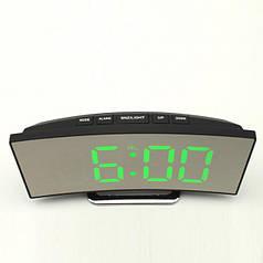 Часы настольные электронные с LED подсветкой и термометром HLV DT-6507