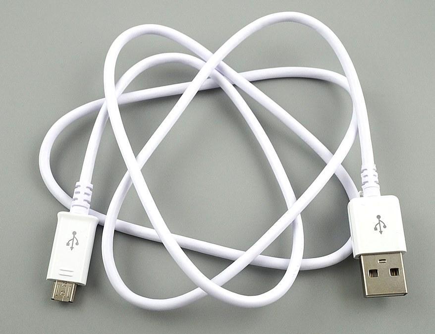 Дата кабель для смартфонов и планшетов USB Micro USB 1м белый