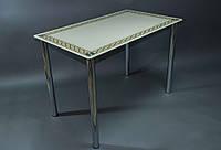 Обеденный стол Плетеная рамка