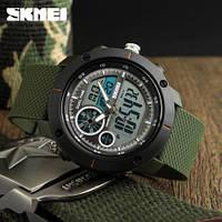 Skmei 1361 зеленые мужские спортивные часы, фото 1