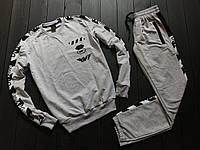 Весенний/осенний спортивный костюм мужской офф вайт (Off-white) без капюшона, реплика, фото 1