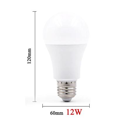 Светодиодная лампочка E27 на 12 Вт (приятный бело-холодный свет), фото 2