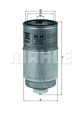 Фильтр топливный Knecht/Mahle KC69