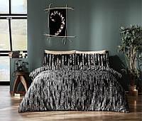 Комплект постельного белья размер king size Tac Selina Black Сатин-Digital