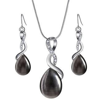 Комплект бижутерии серьги с подвеской Primo Opal - Black
