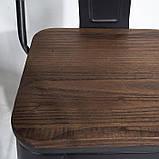 Стул Толикс Вуд, металл, глянцевый черный, фото 4