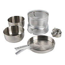 Набор посуды + спиртовая горелка Tatonka 4010.000