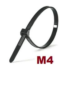 М4 Черная Кабельная стяжка - Хомут нейлоновый