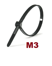 М3 Черная Кабельная стяжка - Хомут нейлоновый