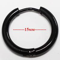 Кольцо для пирсинга ушей (1 шт.), диаметр 18мм. Медицинская сталь, титановое покрытие., фото 1