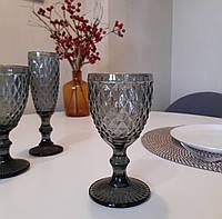 "Набор бокалов для вина из цветного стекла ""Кварц"" 240мл*6шт (арт.6433)"