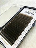Коричневые ресницы Sharlis M 0.07 mix