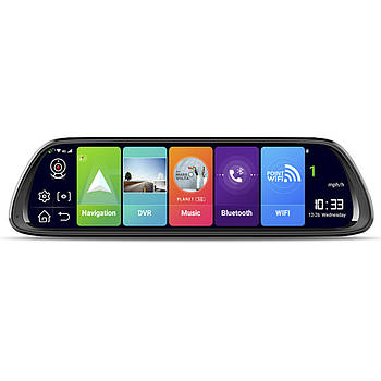 """Зеркало видеорегистратор 10.7"""" Lesko Car D30 с GPS навигатором Wi-Fi ADAS 4G WDR"""