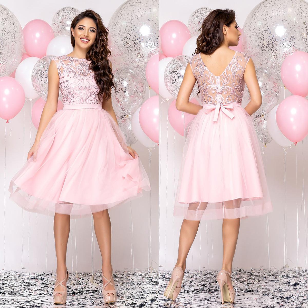 """Рожеве молодіжне плаття випускне, коктейльне, вечірнє """"Рената"""""""
