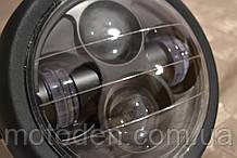 "Фара LED A023GN черная круглая в ретростиле с габаритом 6,5 "" (диаметр крепления 16см)"