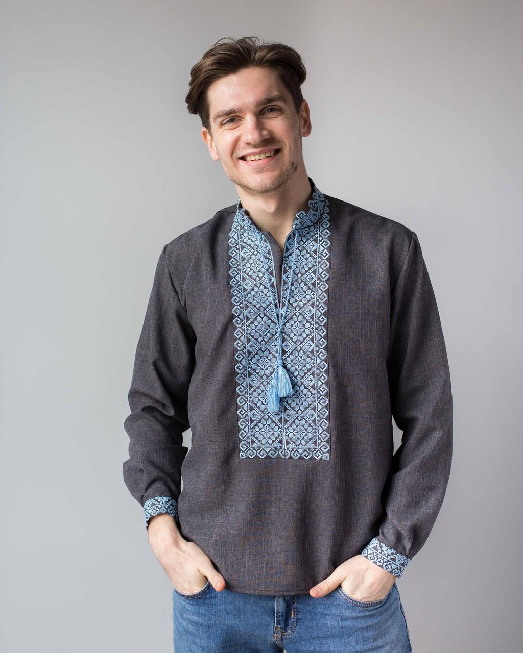 Мужская украинская вышивка с орнаментом