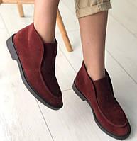Loro Piana! Женские лоферы туфли полу ботинки натуральная бежевая замша Лора Пиана