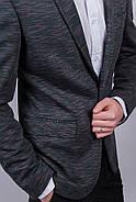 Пиджак №276Y005 цвет Грифельно-зеленый, фото 5