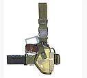 Кобура набедренная камуфляж (мультикам) для пистолета ПМ, материал оксфорд, фото 3