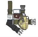 Кобура набедренная камуфляж (мультикам) для пистолета ПМ, материал оксфорд, фото 2