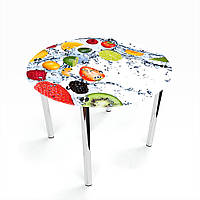 Стол обеденный на хромированных ножках Круглый Fruit Shake