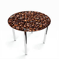Стол обеденный на хромированных ножках Круглый Morning aroma