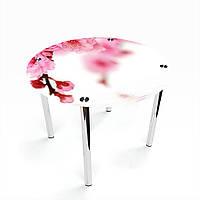 Стол обеденный на хромированных ножках Круглый Sakura