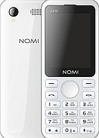 """Кнопочный телефон номи с камерой на 2 sim Nomi i2410 Grey 2.4"""" АКБ 1000 мА*ч"""