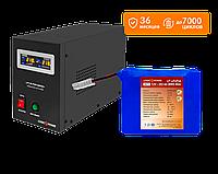 Комплект резервного питания для котла LogicPower B1000 + литеевая (LifePo4) батарея 3000 ватт