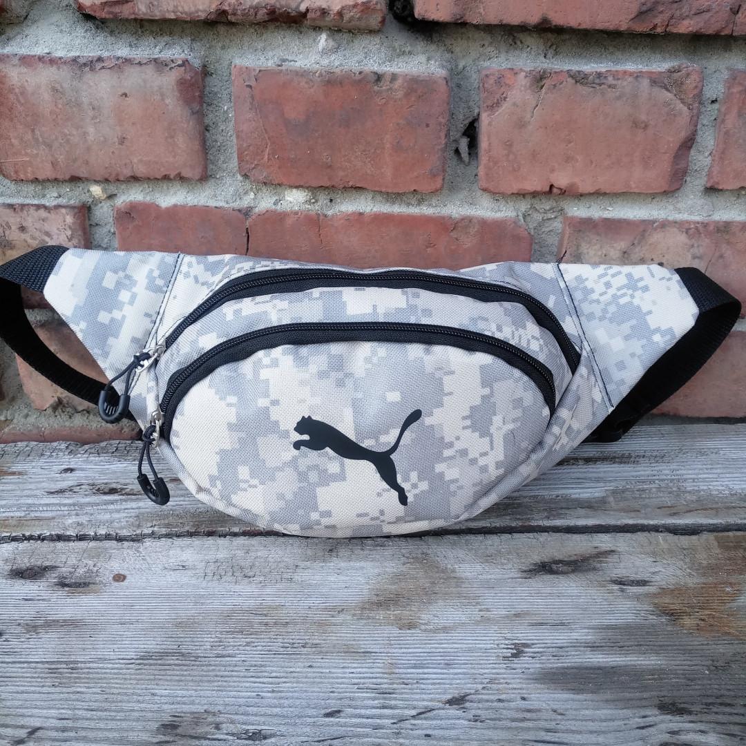 Бананка Puma, пиксель, спинка сетка, сумка на пояс