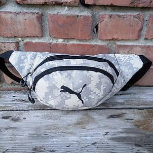Бананка Puma, пиксель, спинка сетка, сумка на пояс, фото 2