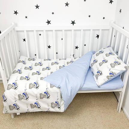 """Постельное белье в детскую кроватку """"Мишки в синих кепках"""" - Oh my kids, фото 2"""