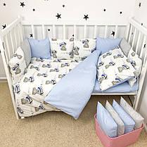 """Постельное белье в детскую кроватку """"Мишки в синих кепках"""" - Oh my kids, фото 3"""